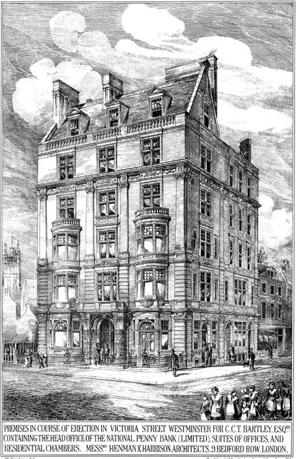 1880 – National Penny Bank, Victoria St., London