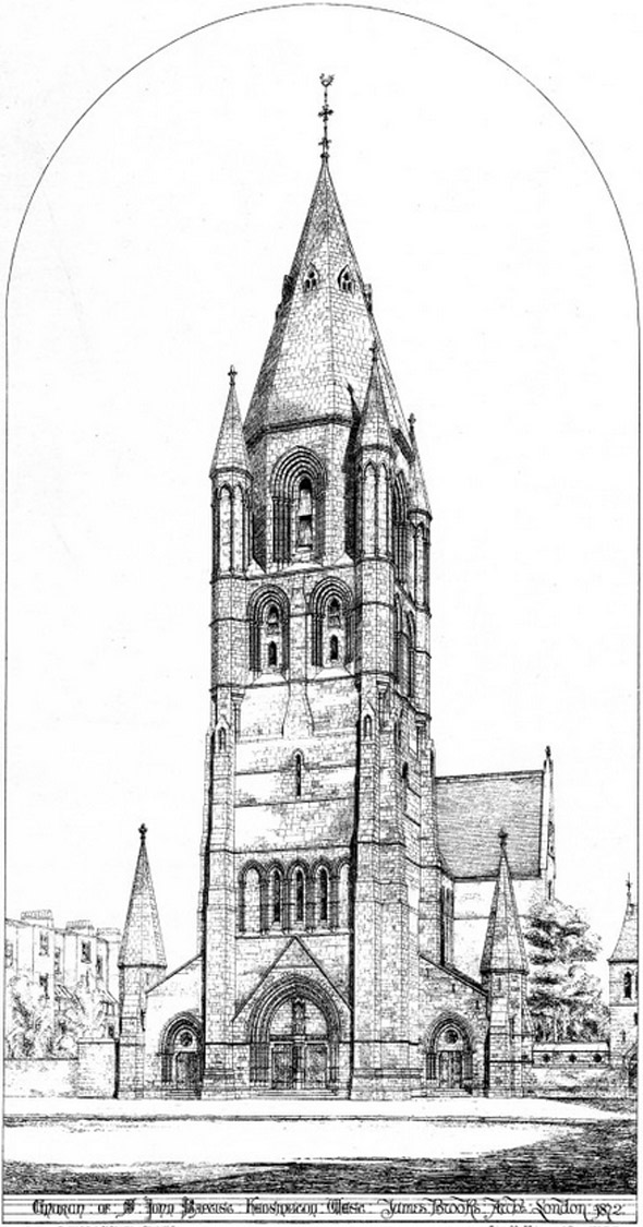 1873 &#8211; Church of St. John the Baptist, Holland Park, Kensington, London