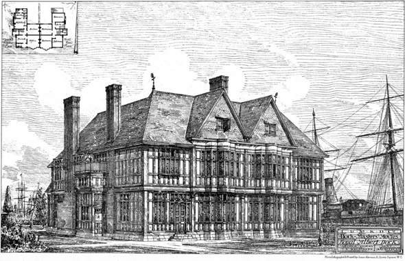 1881 – Dock Masters Houses, Royal Albert Docks, London