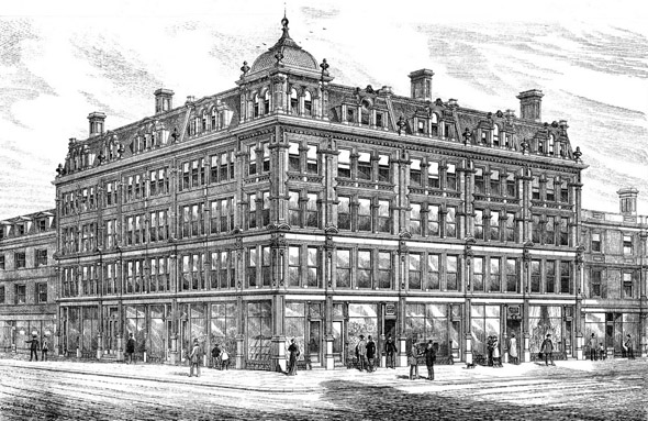 1879 – New Shops, Offices & Warehouses, Aldersgate, London