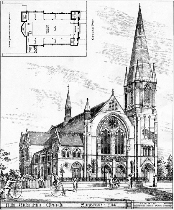 1881 – New Wesleyan Chapel, Surbiton Hill, London
