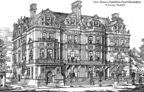 1876 – New Houses, Exhibition Road, Kensington, London