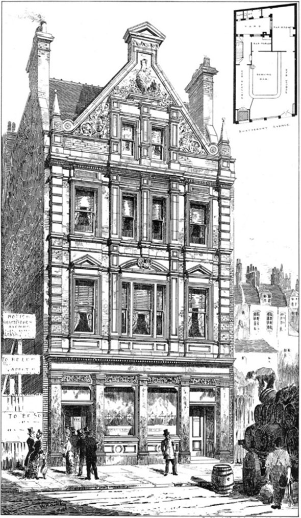 1887 – The Cock Tavern, Shaftesbury Avenue,  London