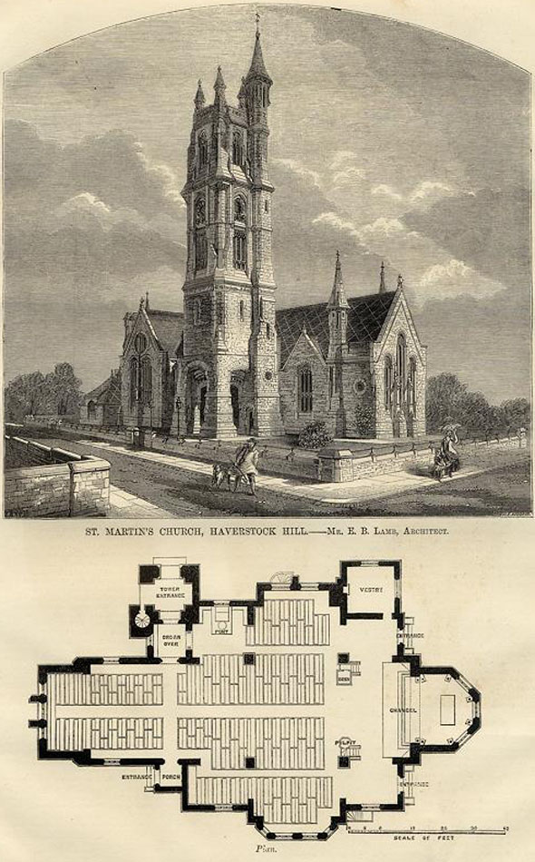 1865 &#8211; St. Martin&#8217;s Church, Vicar&#8217;s Road, London