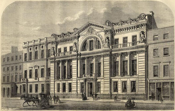 1860 &#8211; Freemason&#8217;s Hall, Great Queen Street, London
