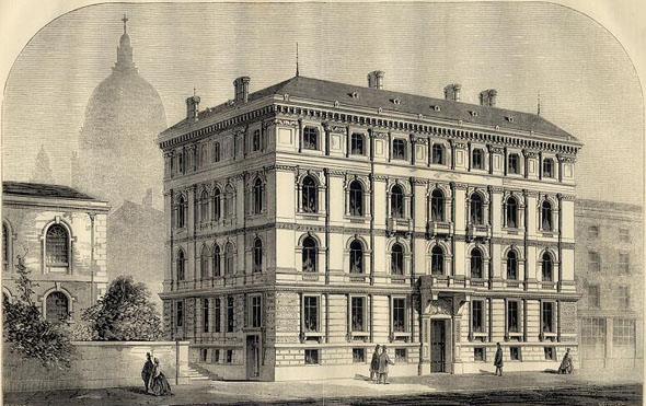 1868 – British and Foreign Bible Society's House, New Earl Street, Blackfriars, London