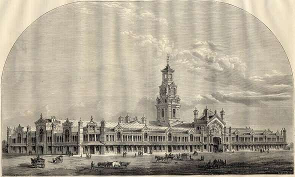 1866 – Design for the City Meat & Poultry Markets, Smithfield, London