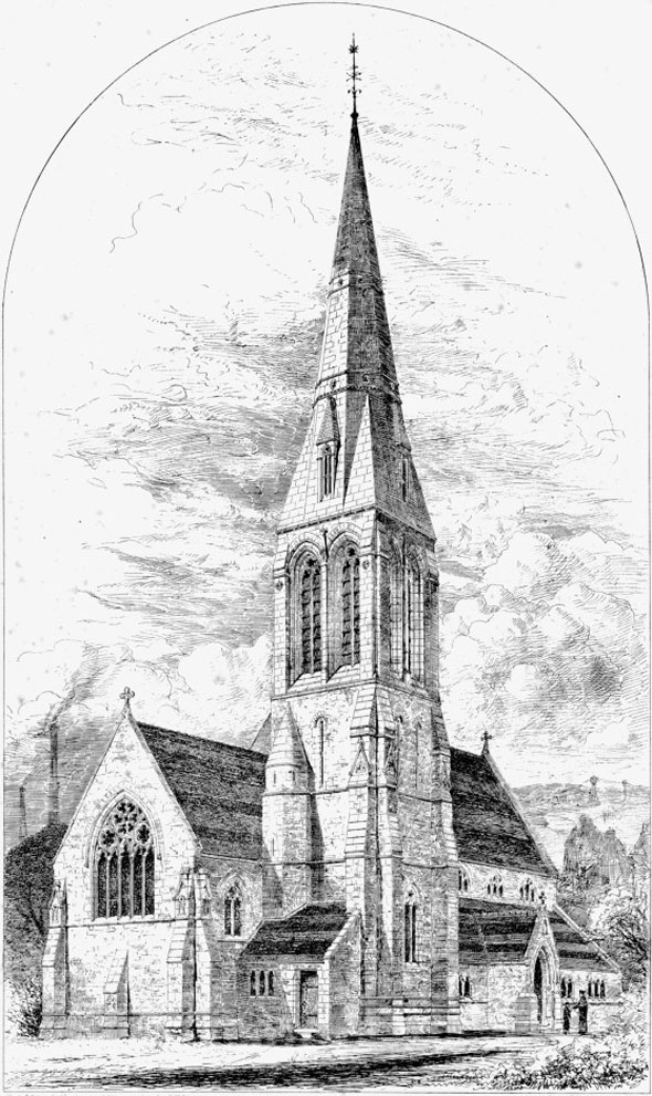1872 – Premiated Design, Wood Green Church,  Walsall, Staffordshire