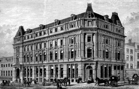 1877 – Civil Service Supply Association, Bedford Street, London