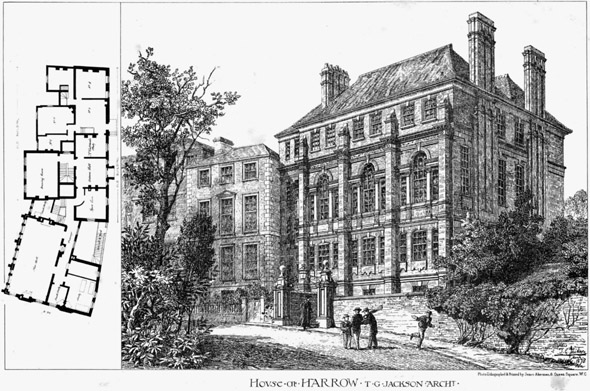 1878 &#8211; House at Harrow School, London