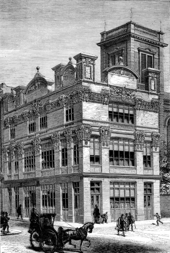"1876 – ""Baynard Castle"", Queen Victoria Street, London"