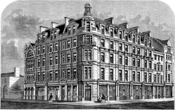 1876 &#8211; New Buildings at the Corner of Chancery Lane &#038; Holborn, London
