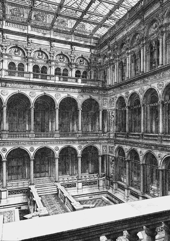 1868 –  Interior Court, India Office, London