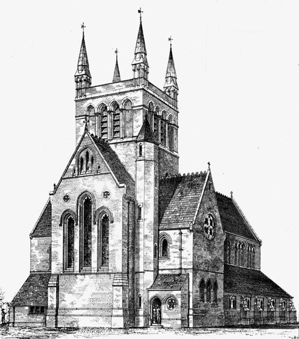 1872 &#8211; The Church of All Souls, Grosvenor Park, Camberwell,  London