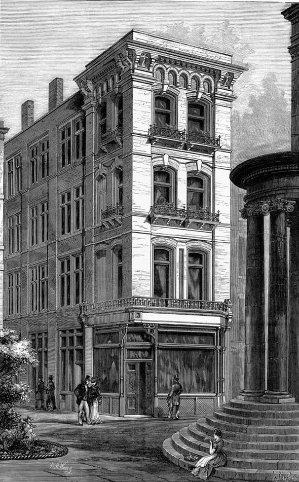 1876 &#8211; New House in The Strand, London