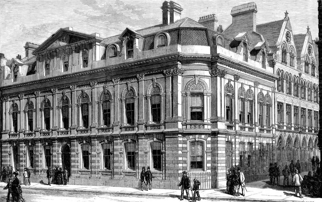 1877 – The London Mission House, New Broad Street,  London