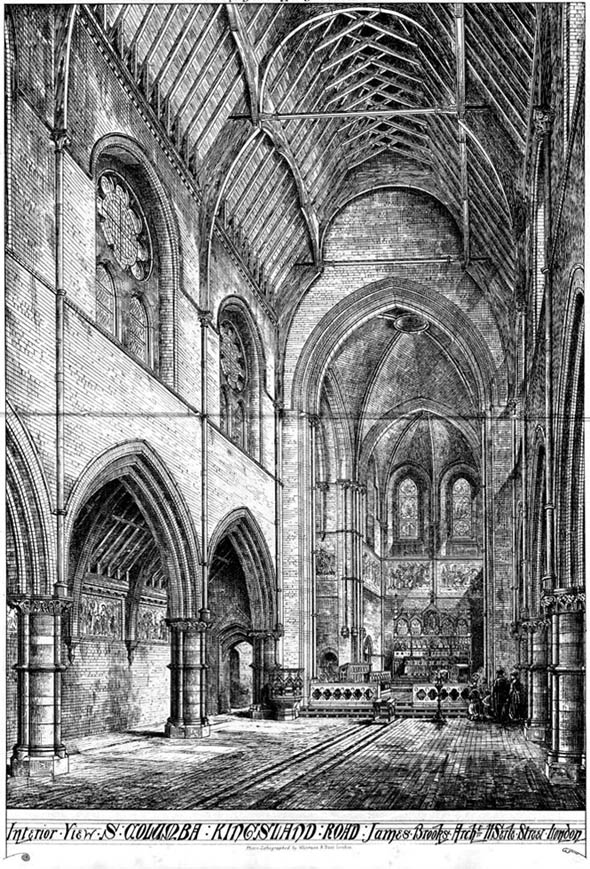 1869 – Church of St. Columba, Kingsland Road, London