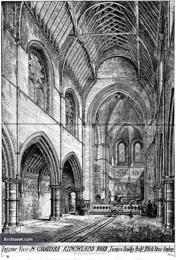 1869 – Church of St. Columba, Kingsland Road, London