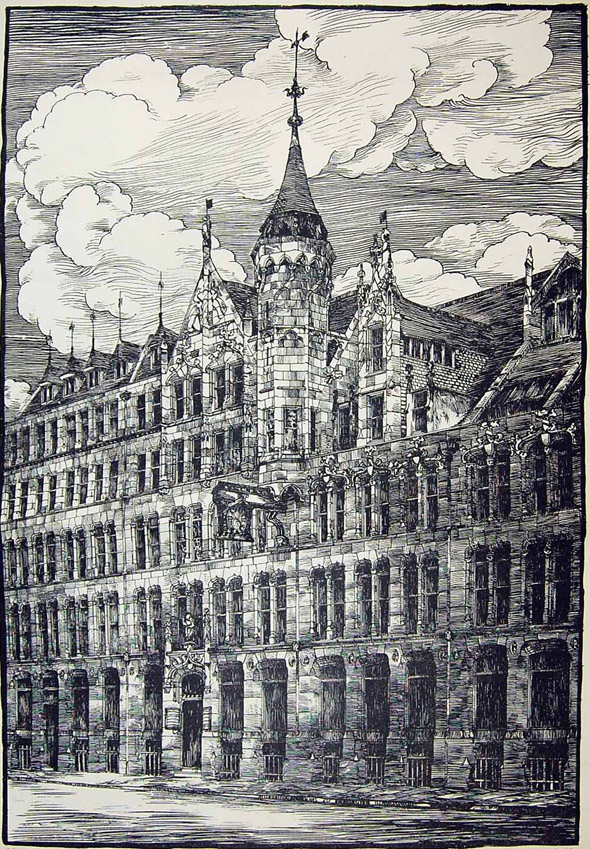 1884 &#8211; Warehouse, Wood Street, London