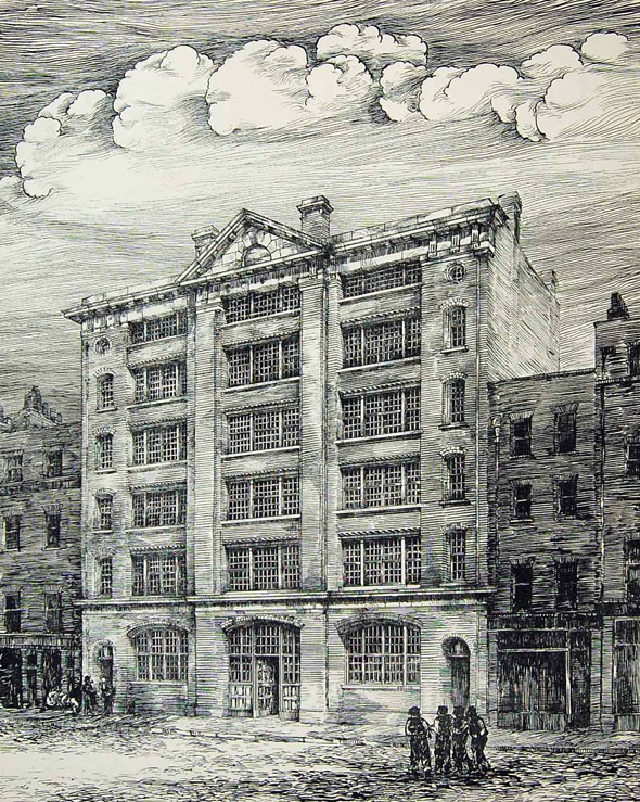 1884 – Warehouse, Broad Street, Bloomsbury, London