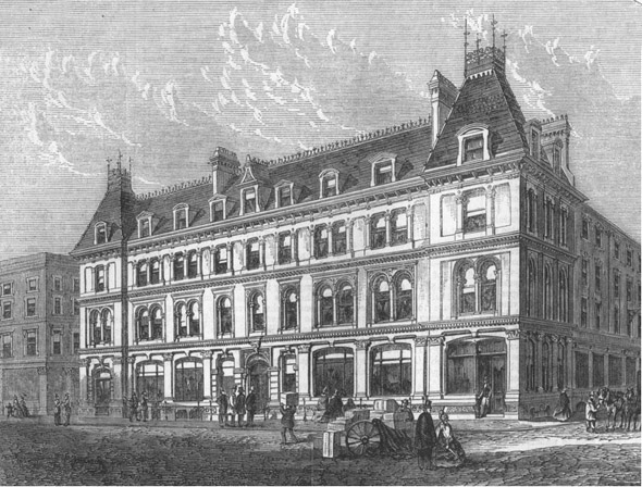 1863 &#8211; New Buildings in Paternoster Row, London