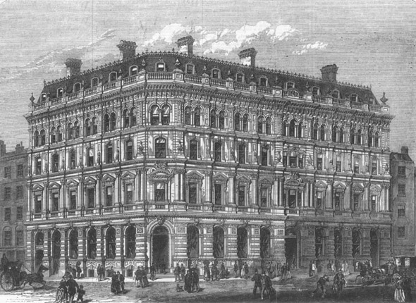 1868 &#8211; Corner of Fenchurch &#038; Lombard St, London
