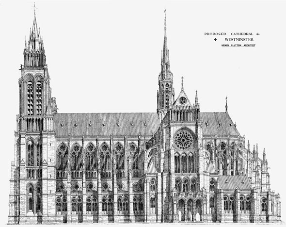 1875 – Proposed Catholic Cathedral, Westminster, London