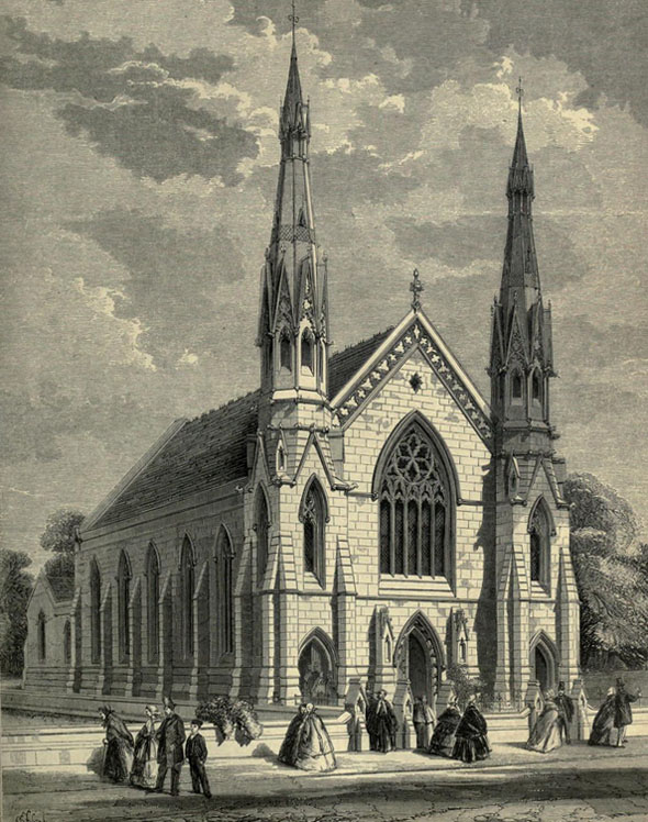 1860 – Chapel, Heath St, Hampstead, London