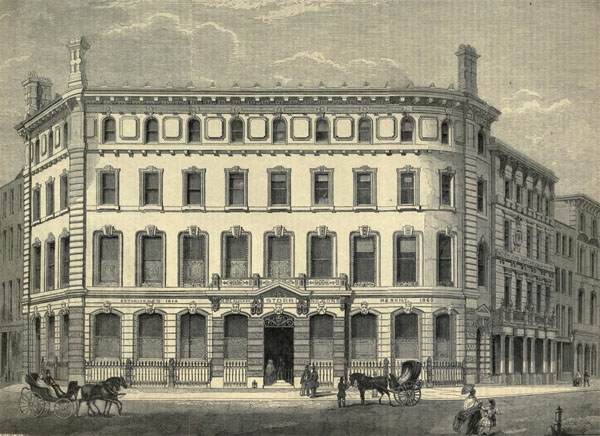 1860 – Debenham Storr & Son's Auction Rooms, Covent Garden, London