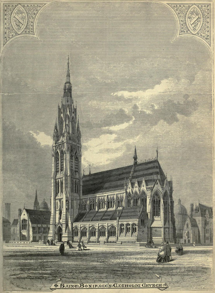 1859 &#8211; Design for St. Boniface Church, Whitechapel, London