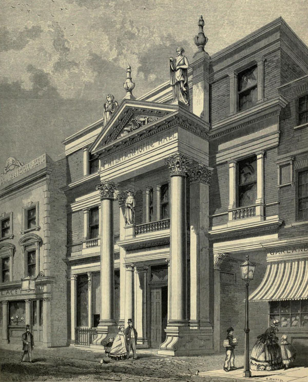 1860 – Philharmonic Hall, Islington, London
