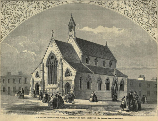 1860 – St. Thomas Church, Hemingford Rd., Islington, London