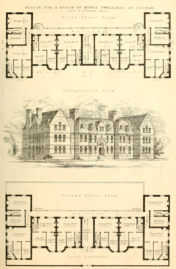1868 &#8211; Model Housing, Fulham, London