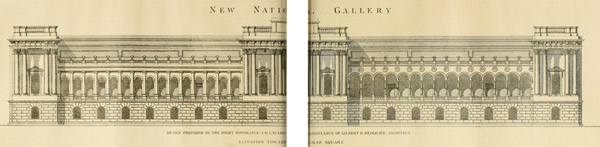 1871 – Design for National Gallery, Trafalgar Sq., London