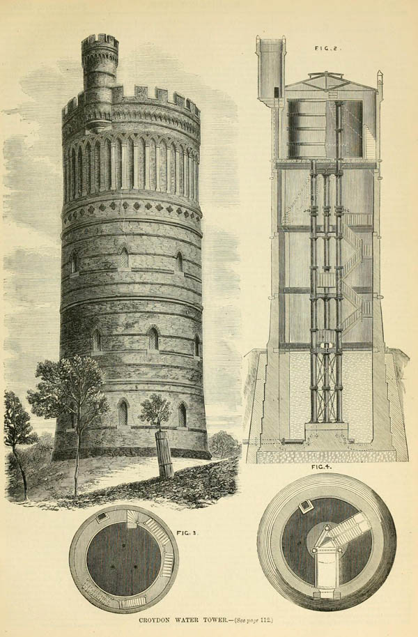 1867 &#8211; Croydon Water Tower, Surrey