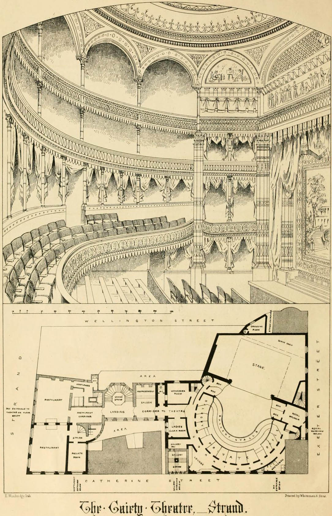 1868 –  Gaiety Theatre, The Strand, London