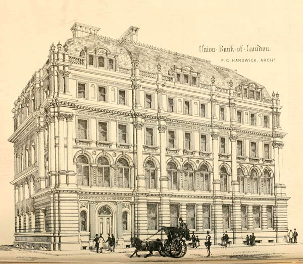 1865 – Union Bank of London, Princes St., London