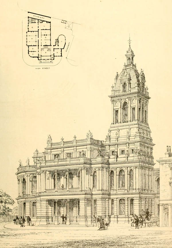 1869 – Public Office & Vestry Hall, Stratford, London