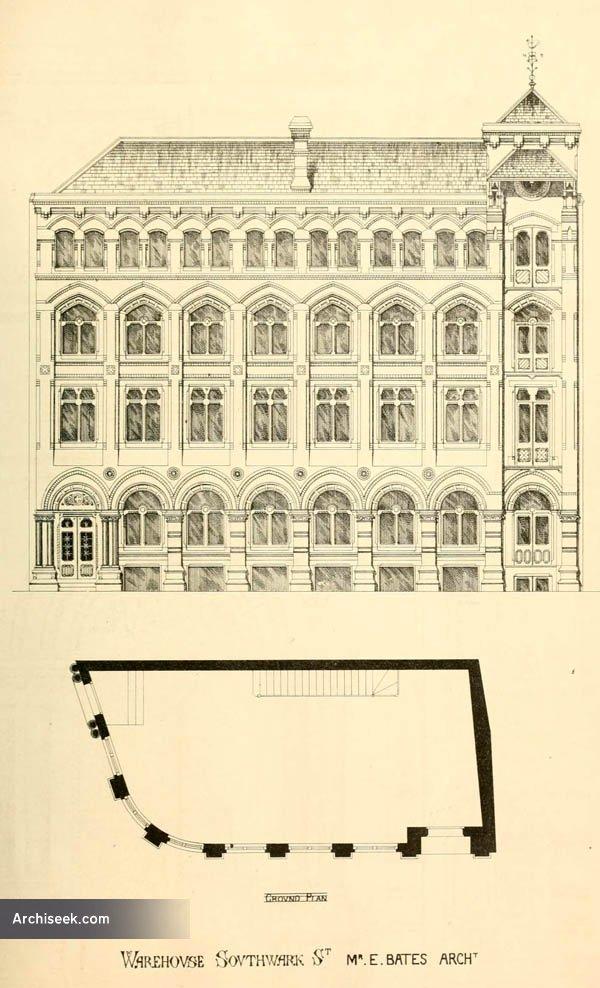 1868 – Warehouse, Southwark St., London