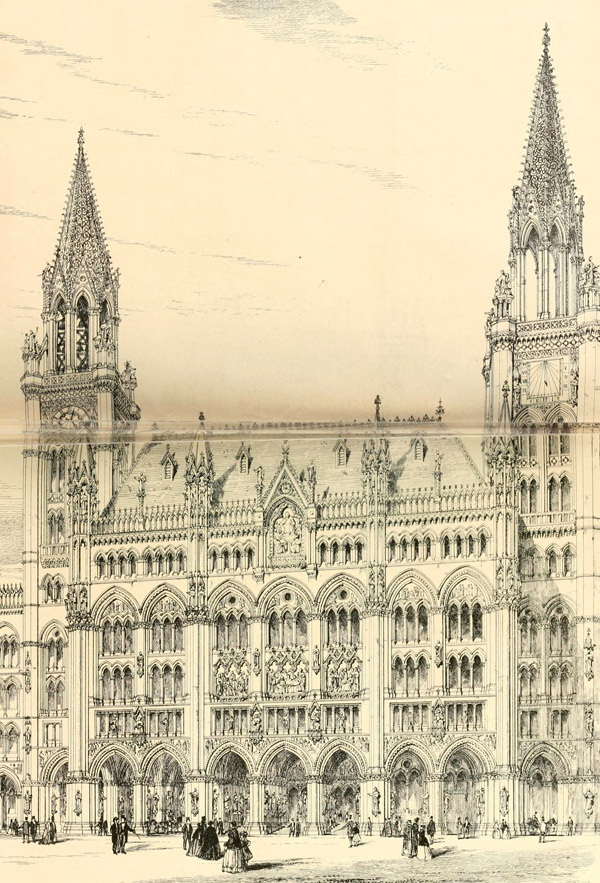 1867 &#8211; George Gilbert Scott&#8217;s Design for Royal Courts of Justice, London