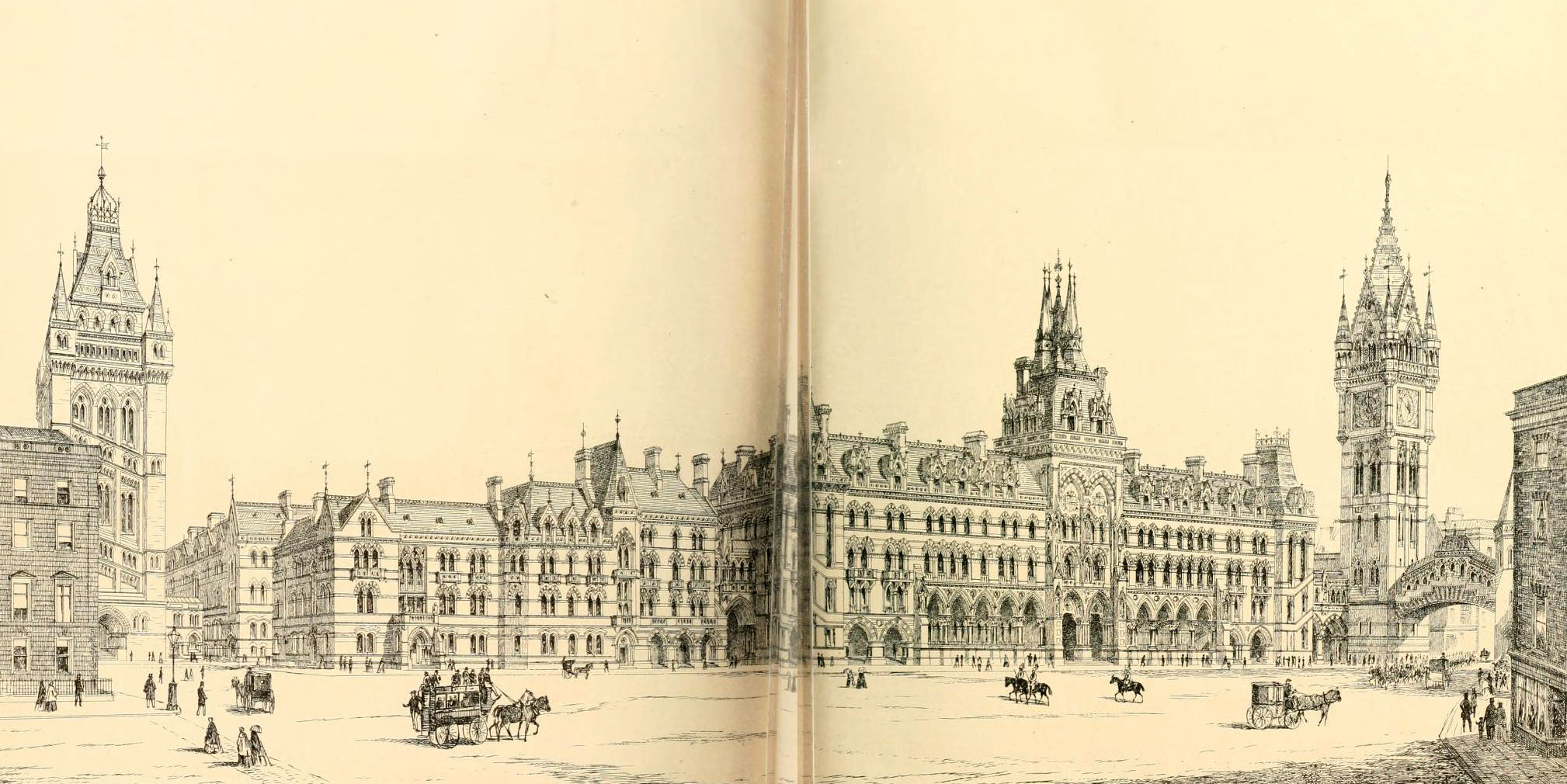 1867 &#8211; T.N. Deane&#8217;s Design for Royal Courts of Justice, London