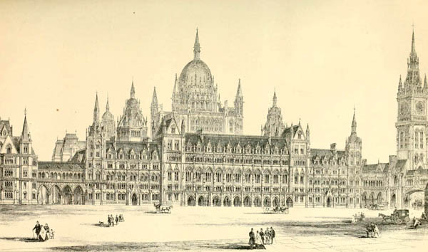 1867 – Design for Royal Courts of Justice, London by E.M. Barry