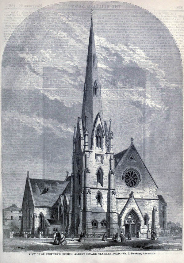 1861 – St. Stephen's Church, Albert Square, Clapham Rd, London