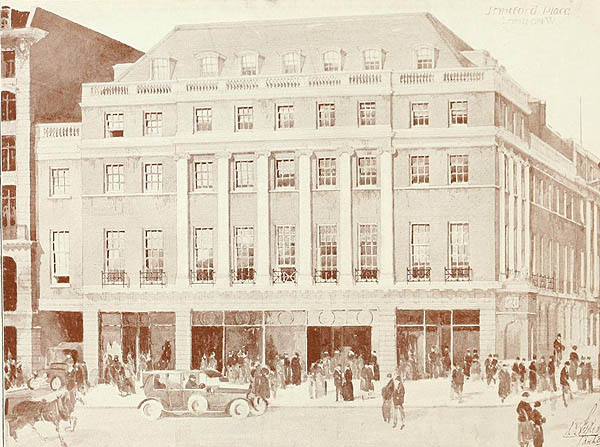 1919 – Corner Oxford St & Stratford Place, London