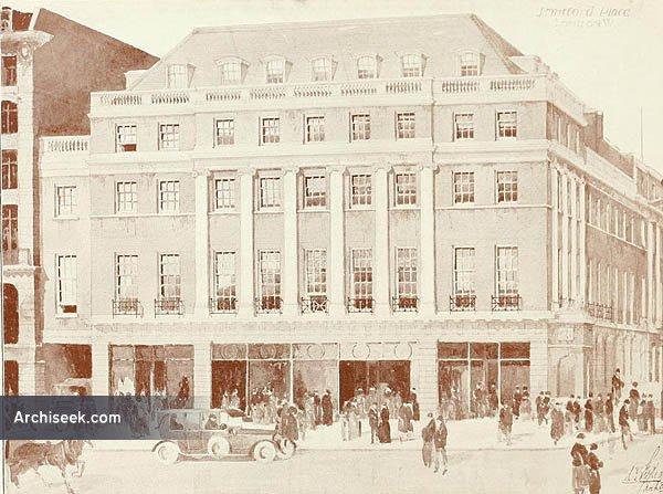 1919 – Corner Oxford St & Stratford Place, London