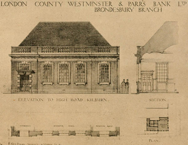 1920 – London County Westminster & Parr's Bank, Brondesbury, London