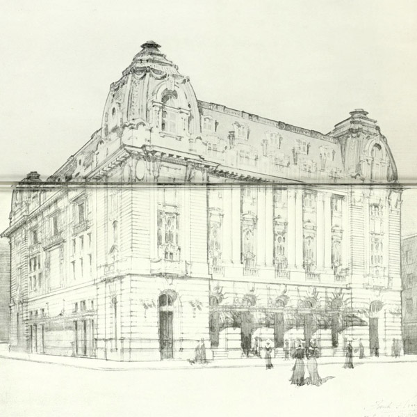 1919 – Proposed Theatre, Charing Cross Rd., London