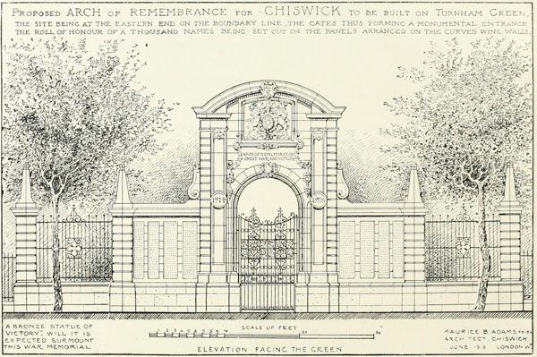 1919 – Unbuilt Arch of Remembrance and Victory, Chiswick, London