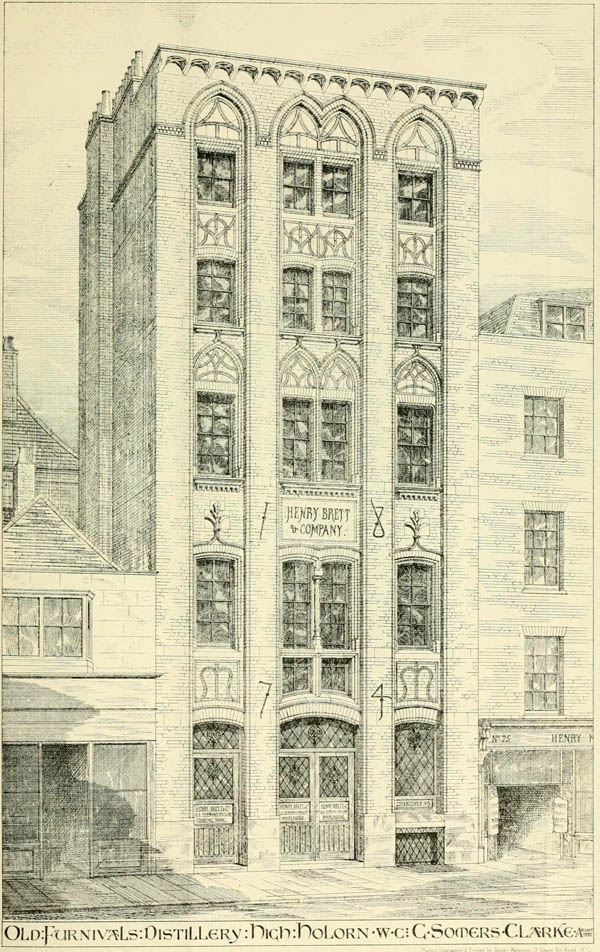 1874 – Old Furnivals Distillery, Nos. 26-27 High Holborn, London