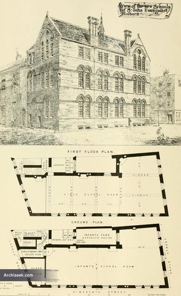 1873 – St. John Evangelist Schools, Holborn, London